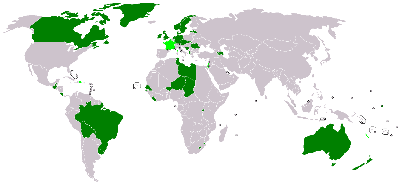 hvilke lande er ikke med i fn