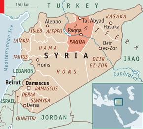 Karta Syrien