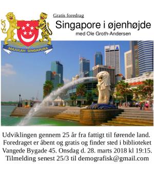 Gratis foredrag 'Singapore i øjenhøjde' fra Den Danske Forening